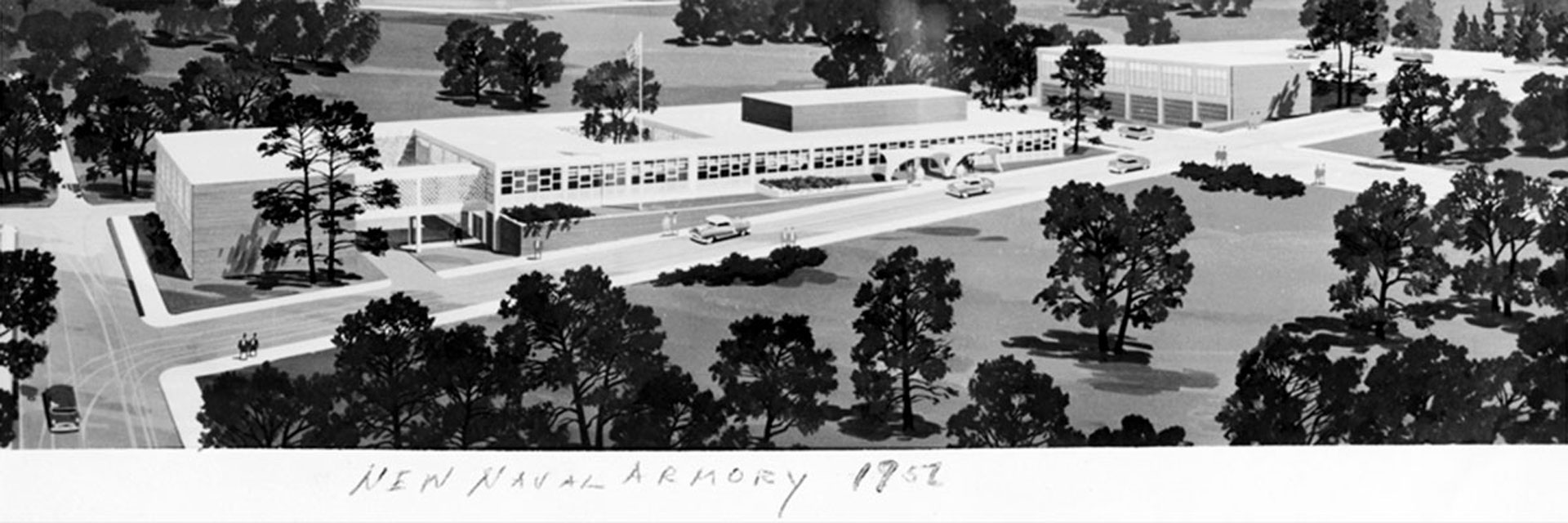1952 photo of naval armory.
